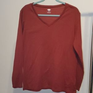 Red Old Navy Long Sleeve T-shirt